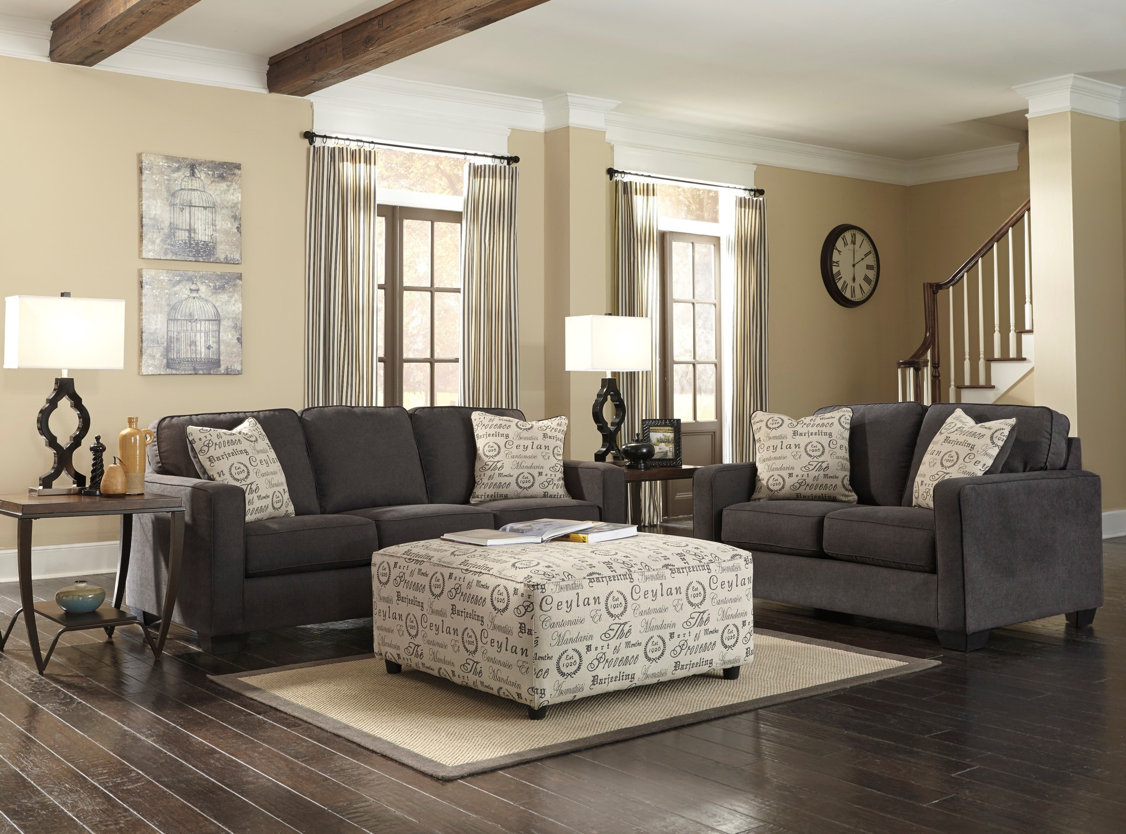 Alenya charcoal living room set 16601 38 35 ashley furniture for Living room ideas ashley furniture