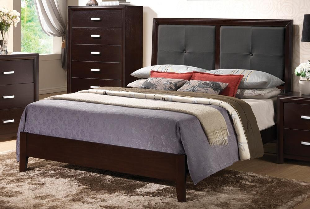 Andreas upholstered panel bed 202471q coaster furniture Andreas furniture
