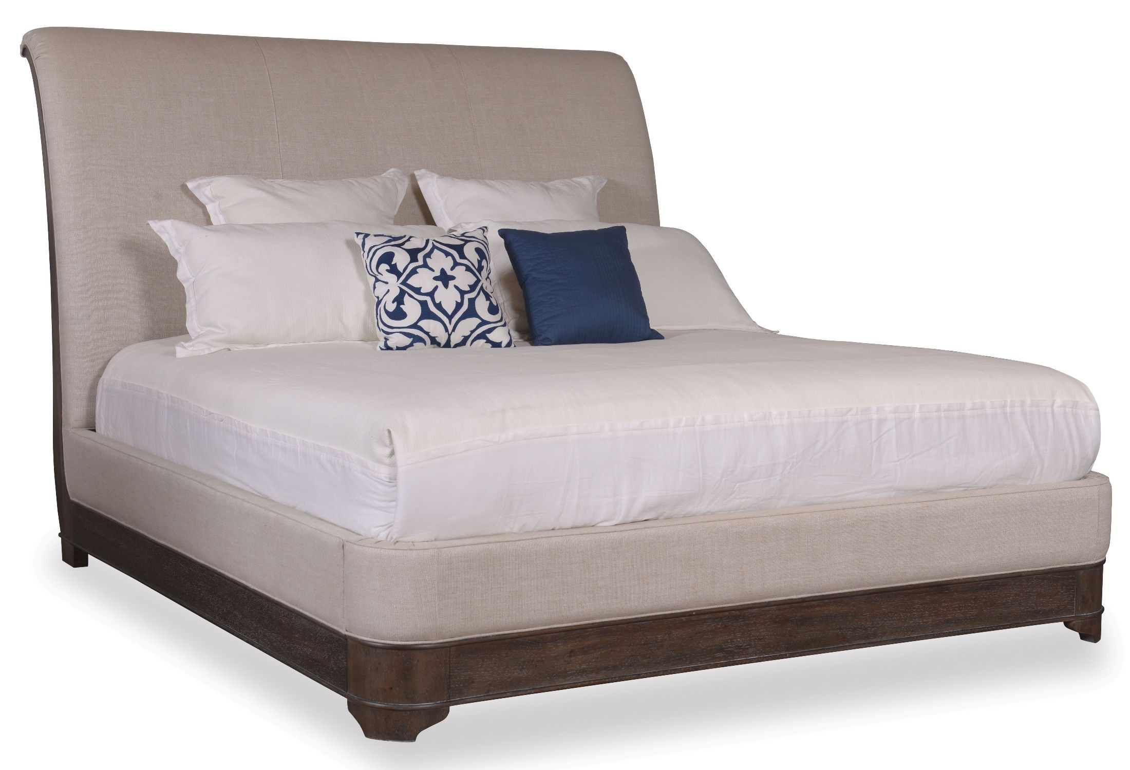 St Germain King Upholstered Sleigh Bed 215156 1513fb