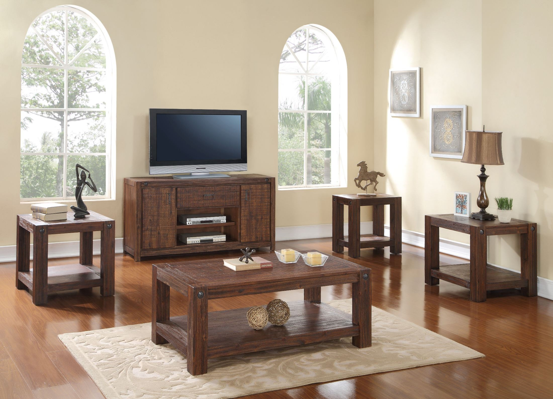 Fairway Royal Classics Distressed Walnut Occasional Table
