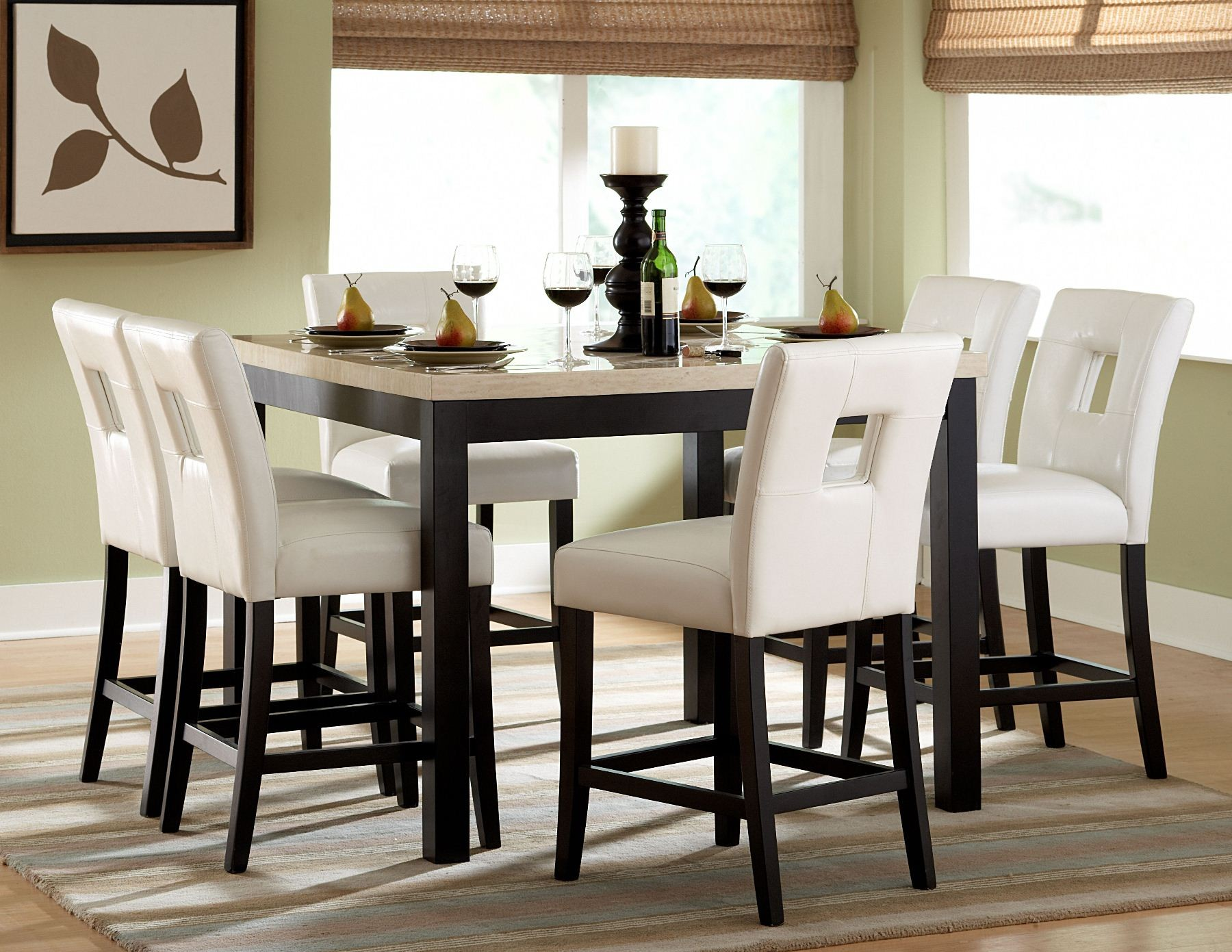 Archstone counter height dining room set from homelegance for Dining room set ideas