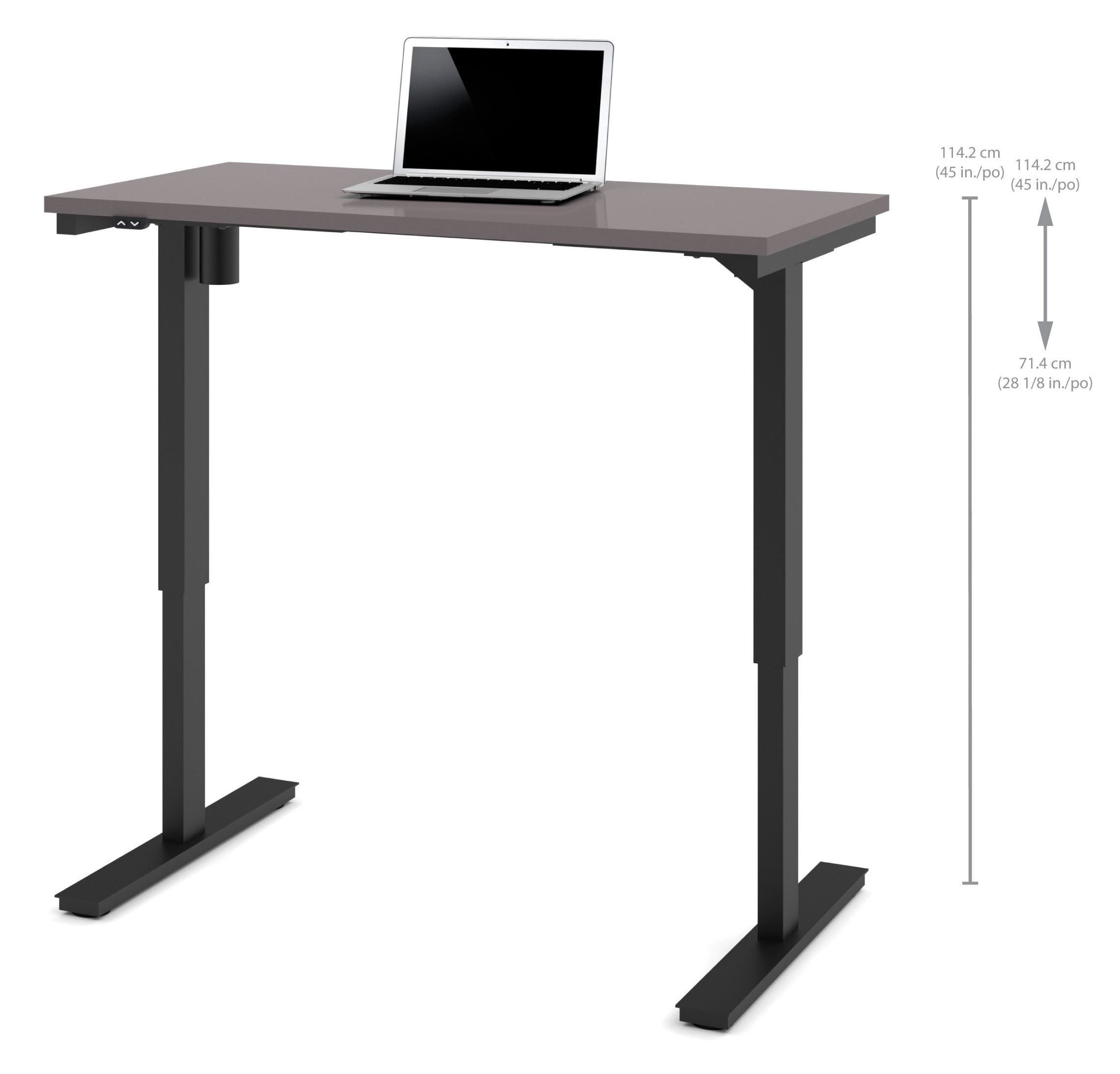 48 slate electric height adjustable table 65857 59 bestar Motorized table