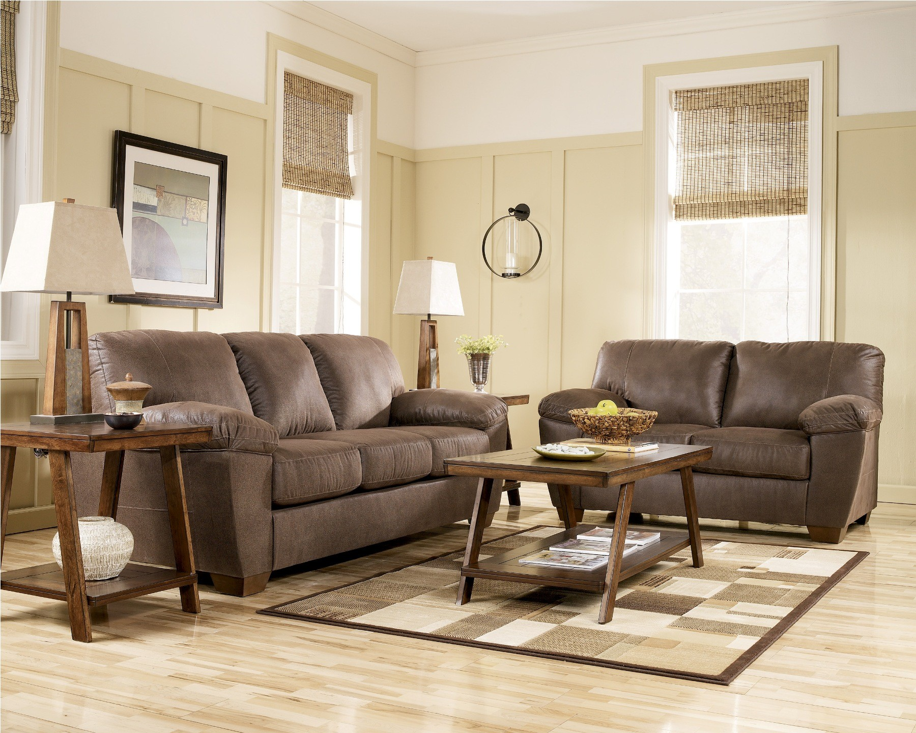 Amazon Walnut Living Room Set By Ashley Furniture