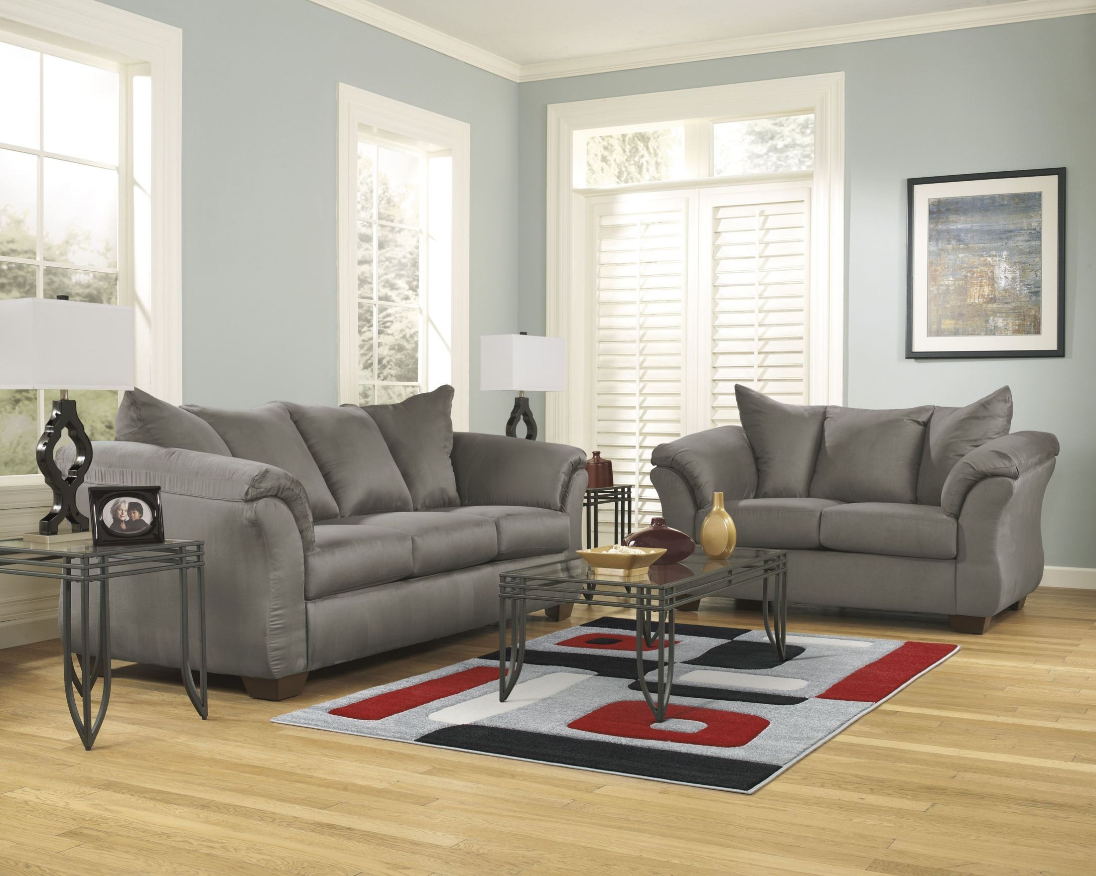 Darcy cobblestone chaise sectional 7500518 ashley furniture for 750 sofa chaise