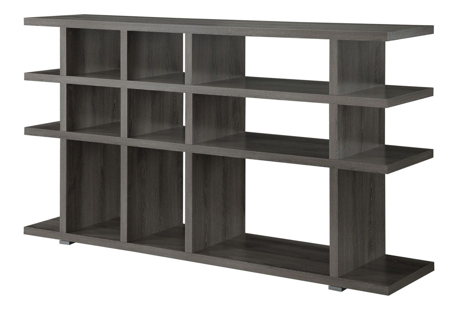 800359 weathered grey open shelves bookshelf 800359 coaster Open shelving