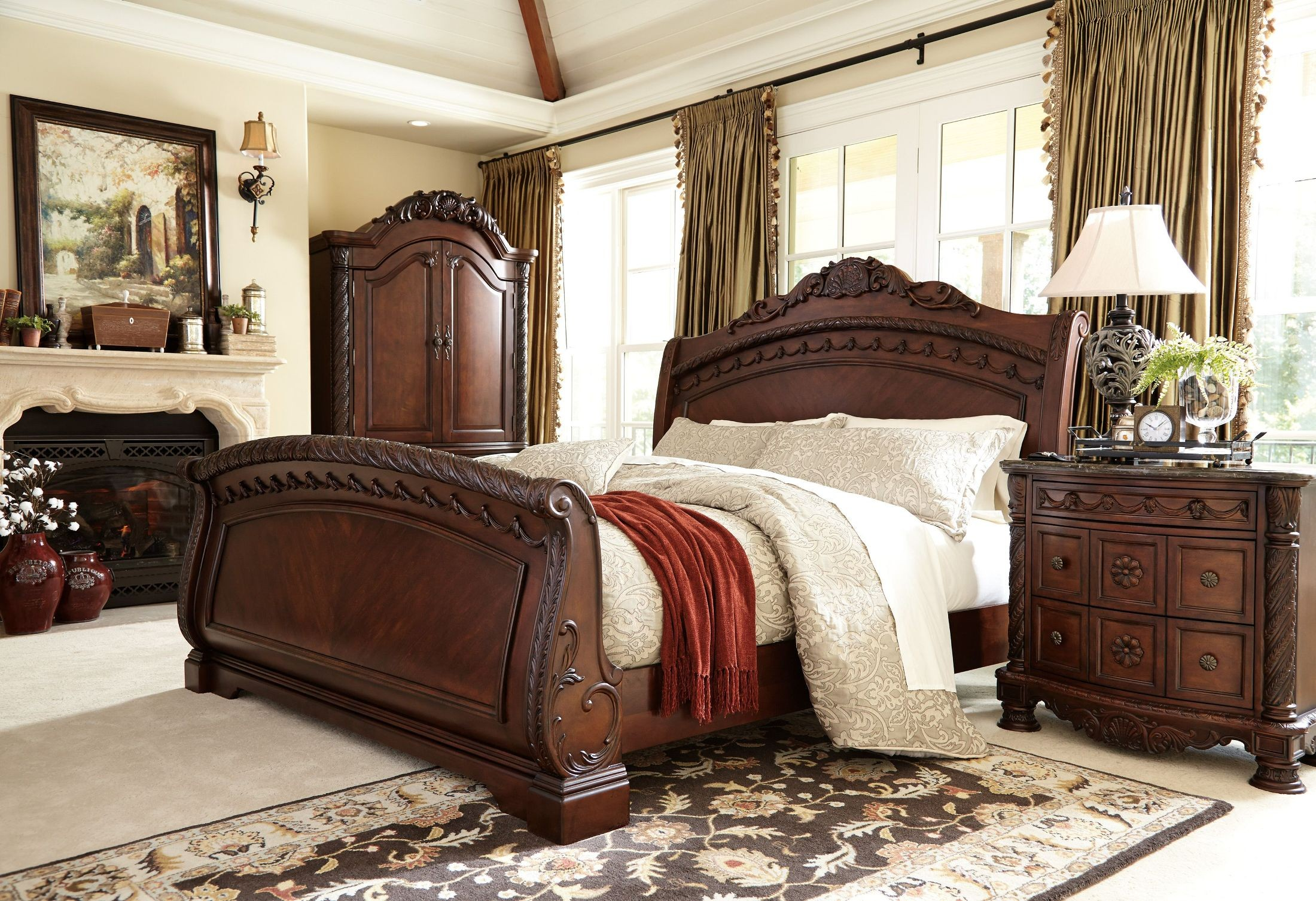 North Shore Sleigh Bedroom Set ashley furniture B553