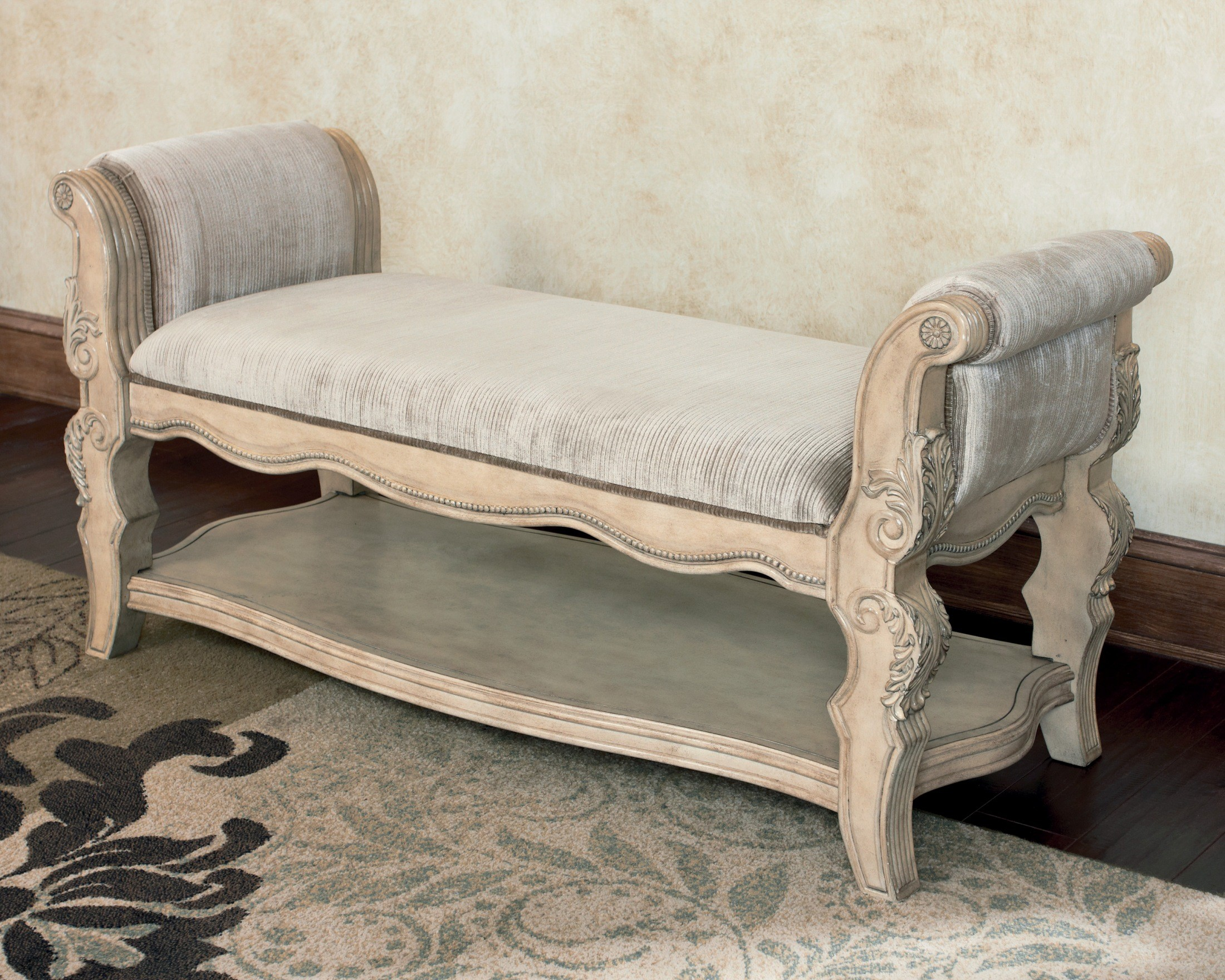 ortanique upholstered bench b707 09 millennium design by