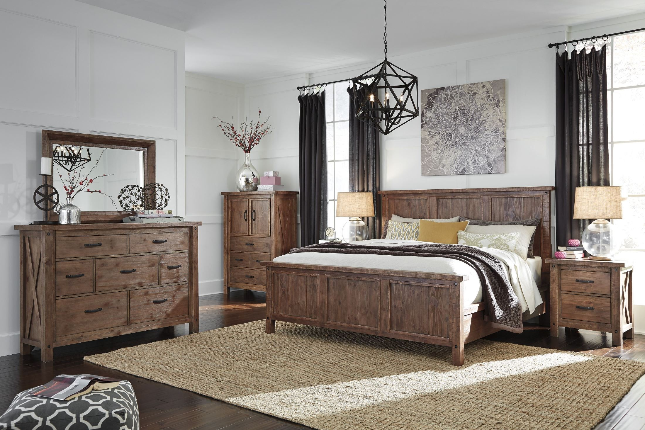 Tamilo Grayish Brown Panel Bedroom Set B714 54 57 98 Ashley