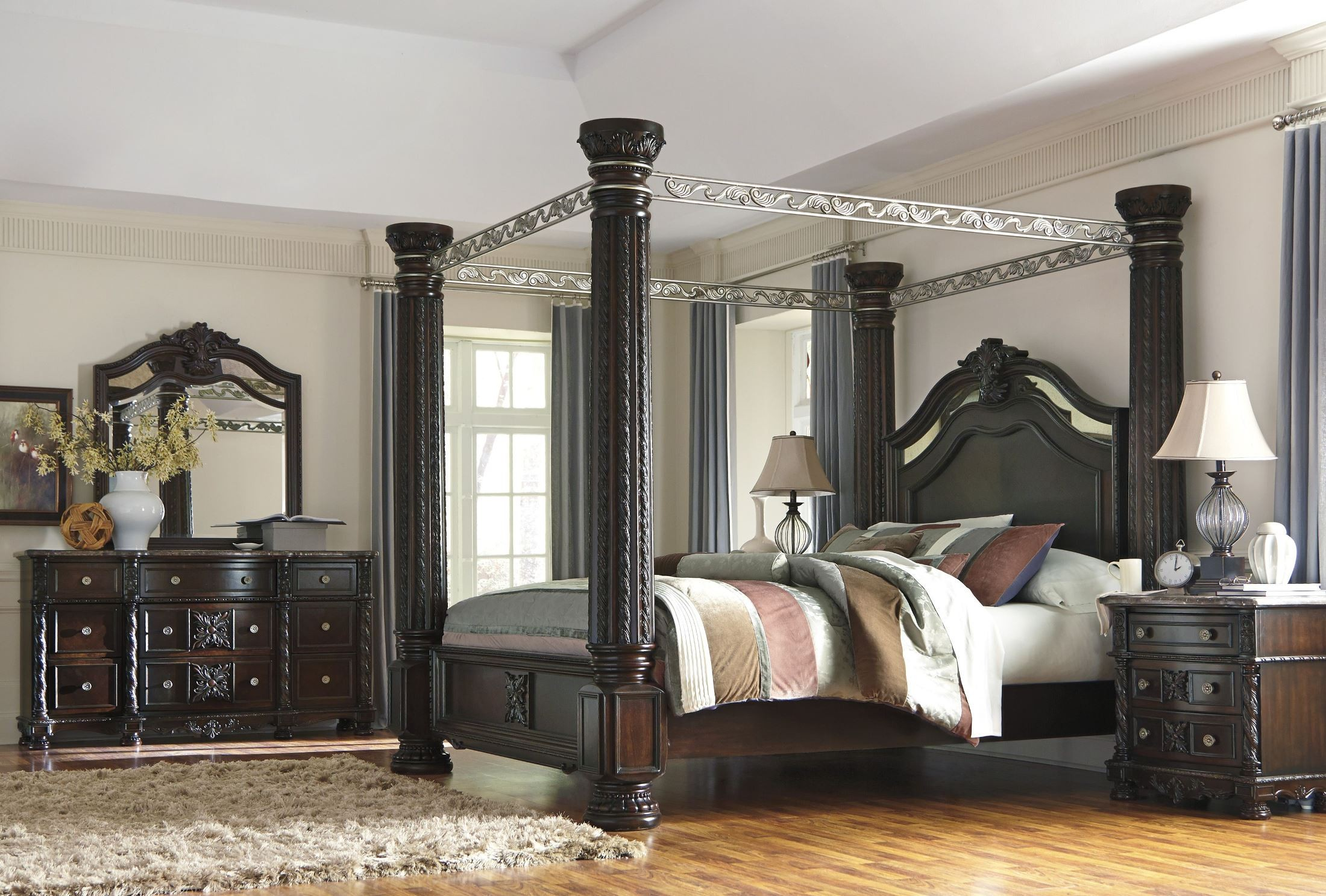 laddenfield poster canopy bedroom set b717 50 51 62 72 99