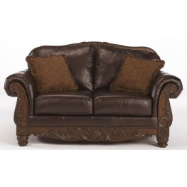 North Shore Dark Brown Loveseat