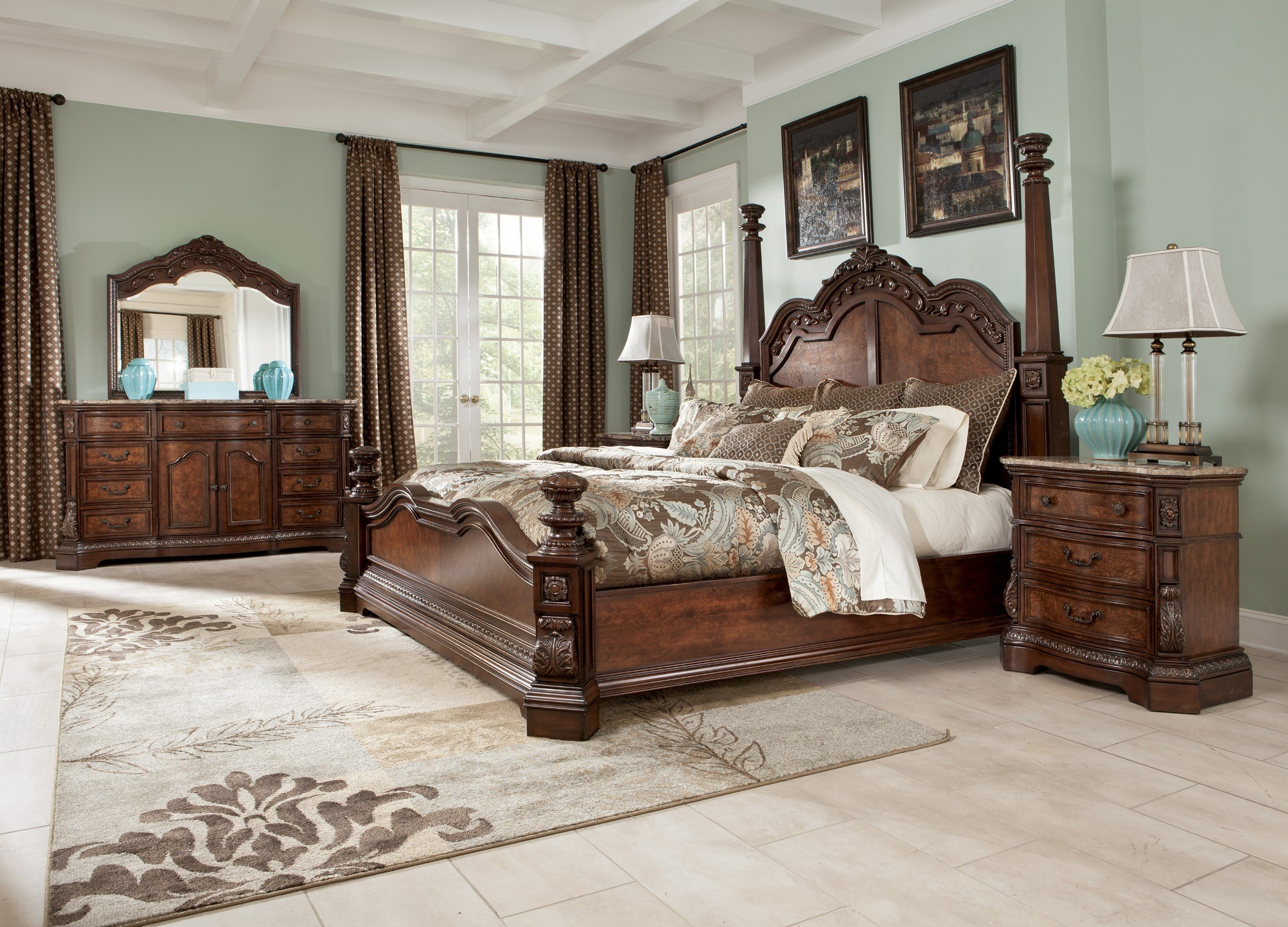 traditional bedroom sets ledelle poster bedroom set b705 51 71 98 millennium 13571