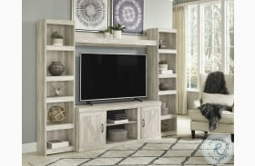 Bellaby Whitewash Entertainment Wall