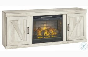 Bellaby Whitewash TV Stand With Fireplace