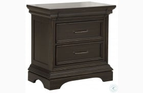 Caldwell Brown 3 Drawers Nightstand